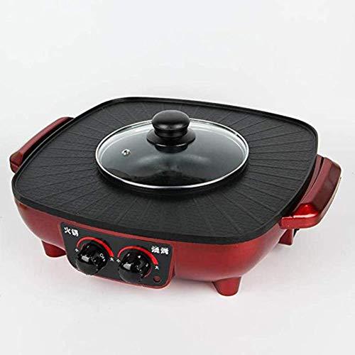 JGSDHIEU Kapazität BBQ Barbecue Braten Hotpot Herd Elektro Multi Herd Haushalt Antihaft-Elektro-Hotpot-Kochmaschine