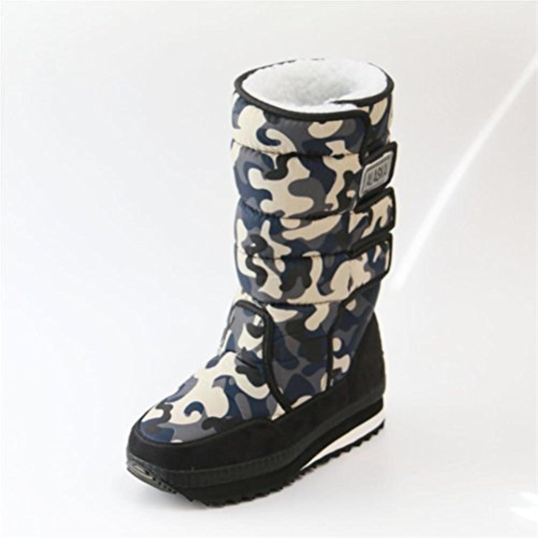 XUEXZIX Stivali da Neve mimetici per Uomo e Donna Tenere al Caldo Stivali di Grandi Dimensioni Testa rossoonda Nera... | Benvenuto  | Scolaro/Signora Scarpa
