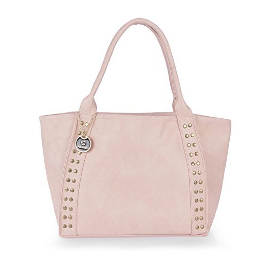 Handbags for Women by Fur Jaden, Coral Colour Branded Ladies Handbag cum Shoulder Purse