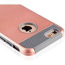 Beauté d'étuis Coque 2 en 1 Bumper en PC TPU[Militaire Garde][Dual Layer] [Hybrid Defender] Etuis Housse Extreme Protection pour (iphone6 /6s 4.7, or rose)