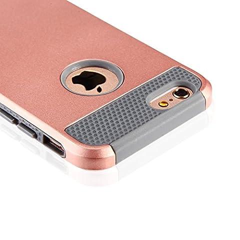 iPhone 6S Schutzhülle, Anti-Rutsch-Perfect-Fit iPhone 6 6S (4.7 Inch) Hartplastik -Silikon-Schutzhülle Gummi Stoßstange Schlank Heavy (Custodia Protettiva In Gomma)