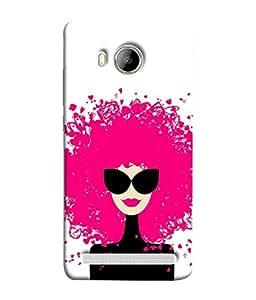 PrintVisa Designer Back Case Cover for Vivo Xshot :: Vivo X Shot (Character Hairstyle Lifestyle Drawing Valentine Portrait Beautiful Profiles)