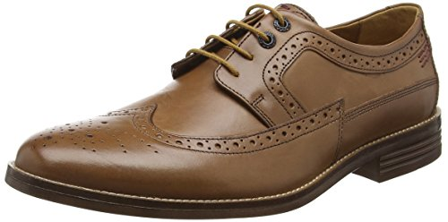 Hush Puppies HM01527-201, Scarpe Brogue Uomo Beige (Tan Leather)