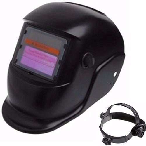 DOBO® Maschera casco autoscurante per saldare saldatura con regolazione sensibilità e ritardo oscuramento e fascia dietro nuca regolabile con pannello solare di ricarica