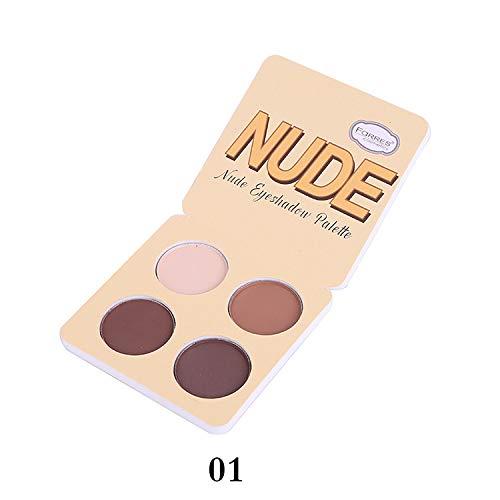 4Color Matte Eyeshadow Palette Nude Minerals Ombre À Paupières Professionnel Poudre Pigment Cosmétique Étanche Mat Maquillage Fard À Paupières,01