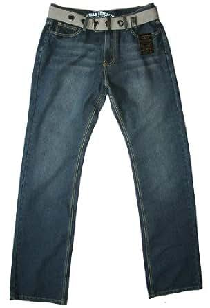 Urban Republic - jean & ceinture - comfort fit - indigo - homme, 30W 30L