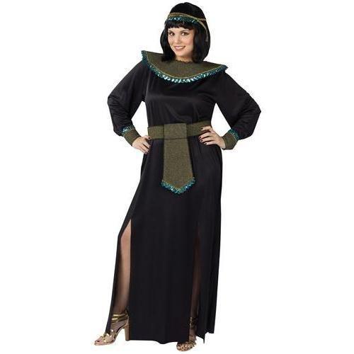 KULTFAKTOR GmbH Cleopatra ägypterin Kostüm Deluxe XL schwarz-Khaki-türkis - Adult Deluxe Cleopatra Kostüm