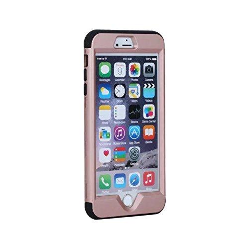 """iPhone 6 Plus Coque,iPhone 6S Plus Coque,Lantier 3 en 1 Combo Slim Mat givré mat Finition Design Shockproof double couche de couverture de cas dur pour iPhone 6 Plus/6S Plus 5.5"""" Noir Rose Gold+Black"""