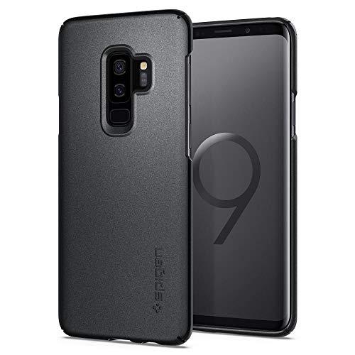 Spigen Thin Fit Samsung Galaxy S9 Plus Hülle (593CS22910) Passgenau Hart PC Hardcase Schutzhülle Schale Schlanke Handyhülle Case (Graphite Gray)