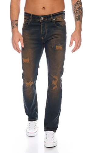 Rock Creek Herren Jeans Dirty Wash RC-329 [W40 L32]