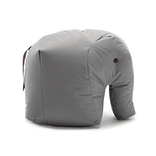 Authentics Sitting Bull Happy Zoo Carl Elefant Sitzsack grau 100% Polyester beschichtet LxBxH 71x53x47cm 190114