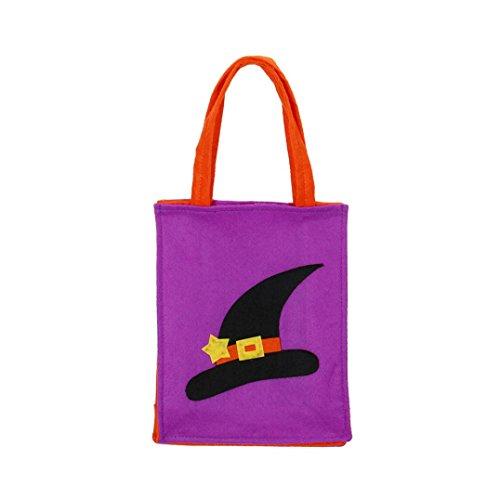 Süßigkeit-Beutel-Geschenk-Beutel Reizende Hexe-Hut-Dekoration Wiederverwendbare Einkaufstasche Handtaschen-Größe: 25X20X8CM, purpurrot (Superhelden-ostereier)