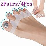 Separatore dita piede, gel Toe Separatore, barelle in gel per dita del piede sovrapposte, Aiuta a sistemare l'alluce valgo, dita a martello, dita incrociate e più. (2 Paia, 4Pcs)