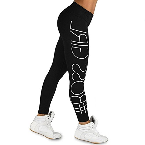 ❤️ Leggings de Fitness para Mujeres,Pantalones Impresión de Cartas atléticos de la Yoga de la Cintura Alta de los Deportes Que Funcionan con los Pantalones atlético Absolute