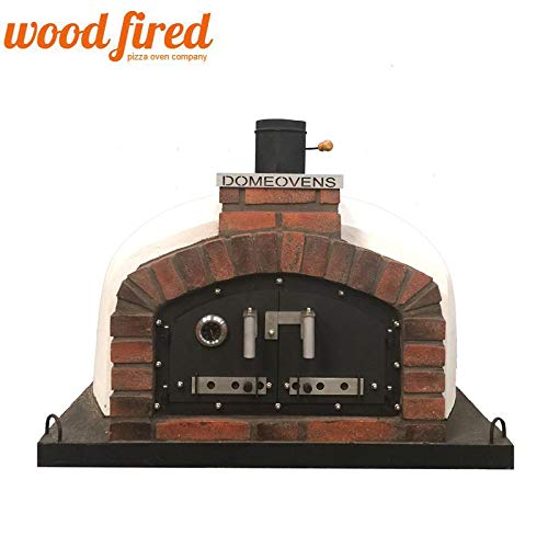 Franco Wood Fired Pizza Oven Double Insulation, Cast Iron Door, Without gas burner, 140cm x 140cm