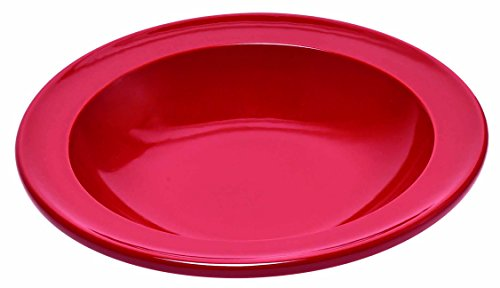 Emile Henry Eh348871 Assiette Creuse Céramique Rouge Grand Cru 22 X 22 X 4 cm