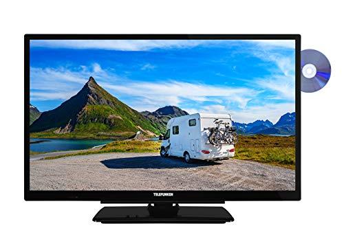 Telefunken XH24G101VD 61 cm (24 Zoll) Fernseher (HD-ready, Triple Tuner, DVD-Player integriert, 12 Volt)