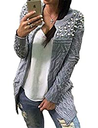 Abrigo Tejido Mujer Elegantes Colores Sólidos Cardigan Otoño Invierno Largos Outerwear Moda Basic Casual Cómodo Caliente