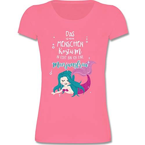 Kinder - Das ist Mein Menschen Kostüm in echt Bin ich eine Meerjungfrau - 152 (12-13 Jahre) - Rosa - F131K - Mädchen Kinder T-Shirt ()