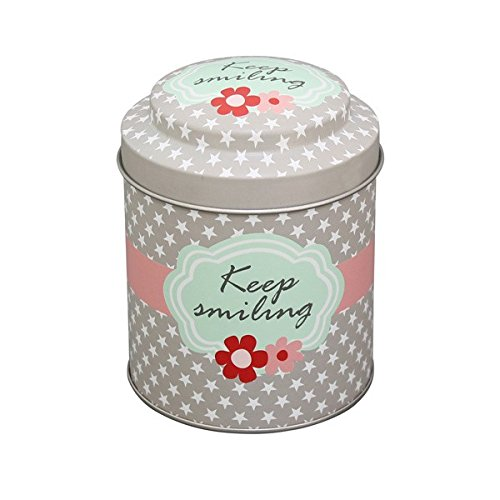 Krasilnikoff - Dose für Tee oder Kaffee, Blechdose, Teedose - Text: Keep Smiling