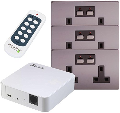 HQ Bargain MIHOME - MIHO039-2G 13A Socket (X3) & Hub Bundle Nickel