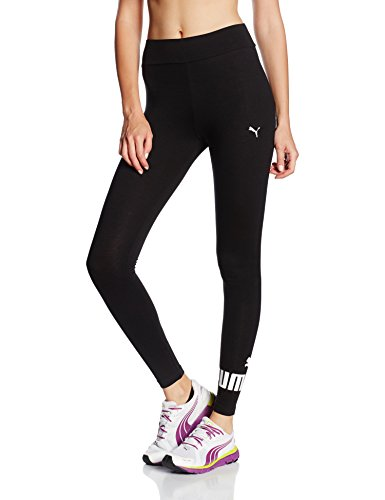 Puma Damen Leggings ESS No.1 W, Cotton Black, M, 838422 - Puma Damen
