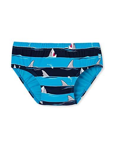 Schiesser Jungen Shark Fever Baby Windelslip Schwimmwindel, Blau (Admiral 801), 86 (Herstellergröße: 414) (Schlafanzug Jungen Shark)