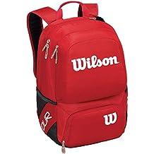 Wilson Tour V Medium Mochila de tenis, Unisex adulto, Rojo (Red), Única