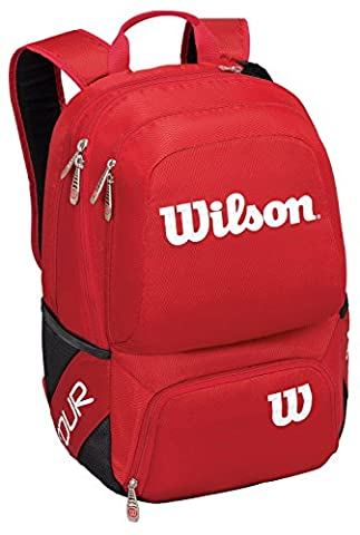 WILSON Tour Sac à dos (Small), Rouge - Wilson Zaino Tennis Nero