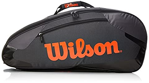 Wilson Schlägertasche Tour Team II 12er Racket Bag, schwarz, 76 x 30.5 x 34.3 cm, 80 Liter, WRZ854612