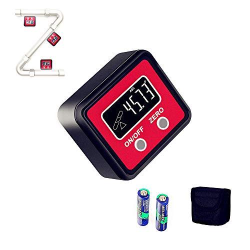 Youtoo Digitaler LCD Winkelmesser Neigungsmesser Inklinometer Wasserwaage LCD Winkelmessgerät mit Schraubendreher Tasche und Magnetfuß für Holzarbeiten Automobilwartung Industrie (Schwarz)