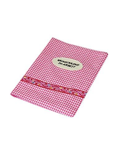 Mutterpass-Hülle mit Innenfach aus Stoff pink