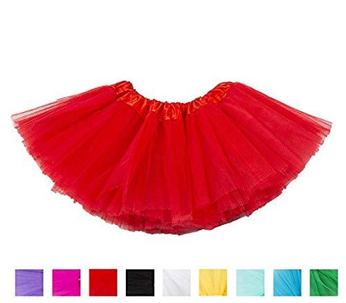 Rote Tutu Kostüm - Ruiuzi Tutu-Rock für Kinder, Mädchen, klassisch,