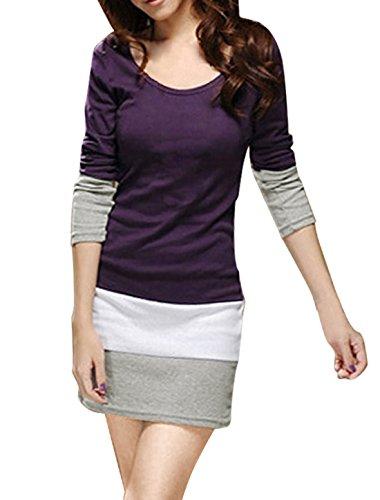 allegra-k-t-shirt-moulant-longue-manche-pour-femmes-m-40-violet