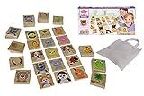 Eichhorn 100004549 - Outdoor Memory, 40 Groߟe Spielsteine 6,5x6,5cm, FSC 100% Zertifiziertes Kiefernholz, Inkl. Beutel