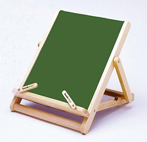 Standard 27 (Bookchair Standard Grün - Buchständer Tablethalter aus Holz: Leseständer mit Stoffbespannung (Auflagefläche 27 x 23 x 3 cm))