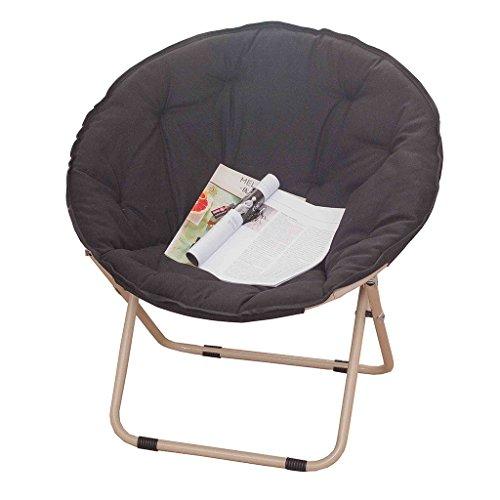 Accueil/Tabouret pour meubles de loisirs intérie Chaise plongeante à grande taille Lunch Break Fold Fauteuil inclinable Nap Sofa durable par BZEI-Chair (Couleur : NOIR)