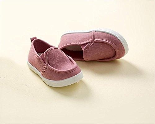 ALUK- Baby-Schuhe-Sport-beiläufige Segeltuch-Schuh-koreanische Version von einfachem Komfort ( farbe : Pink , größe : 27 ) Pink