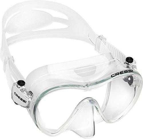 Cressi F1, Tauchen Schnorcheln Rahmenlose Maske Italienische Qualität seit 1946, Unisex, farblos -
