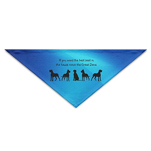 dfegyfr Great Dane Humor Best Seat In House Dog Triangle Pet Scarf Dog Bandana Pet Collars for Dog Cat - ()