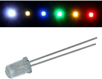 50x Superhelle Leds 5mm Kalt Weiß 6000k 20ma 3 2v 10000 15000mcd 45 Konventionelle Led Beleuchtung