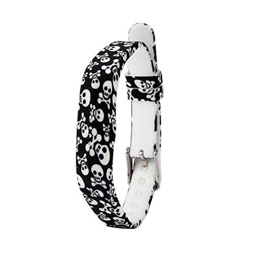 BZLine® - Cinturino di ricambio in silicone, sportivo, doppio blocco, chiusura con fibbia ad ardiglione, per smart watch Fitbit Flex 2, motivi colorati, BZL-01, G, For Fitbit Flex 2