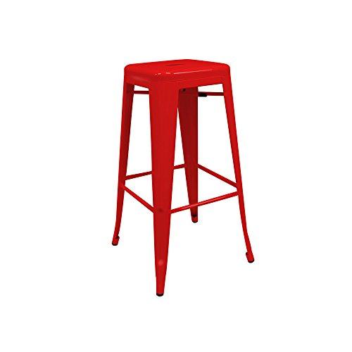 regalosMiguel - Taburete Industrial Torix Rojo (Inspirado en la Línea Tolix)