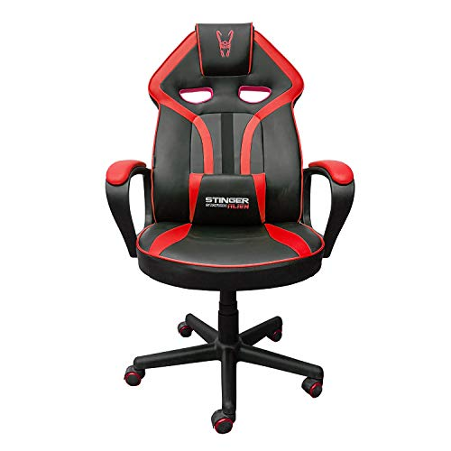 Woxter Stinger Station Alien V2.0 GA40296022, Silla Gaming de Diseño Racing, Rojo