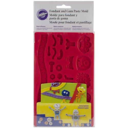 Wilton Kuchenglasur- und Blütenpastenform mit Roboter- und Monster-Design (Roboter-cookie-cutter)