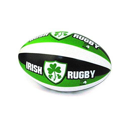 """6"""" Rugby-Antistress-Ball mit Irish Rugby und Kleeblatt-Wappen"""