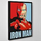 QUADRO MODERNO su Tela Canvas - IRON MAN Shepard - Marvel Comics Fumetto - 30x40cm - Spessore 2cm
