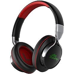 Auriculares Bluetooth, Mixcder Shareme 7 Cascos Inalámbricos con Micrófono Hi-Fi Deep Bass, 18 Horas de Tiempo de Play, para iPhone / Android / Tablet / Portátil y Más, Negro y Rojo