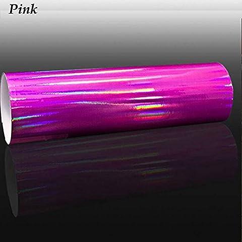HOHO Holographisches Laser Chrom, irisierend Wrap Vinylfolie Auto Tint Aufkleber, 149cmx50cm