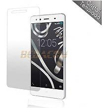 BEDACOM®- Protector de pantalla cristal templado para BQ Aquaris X5 Plus